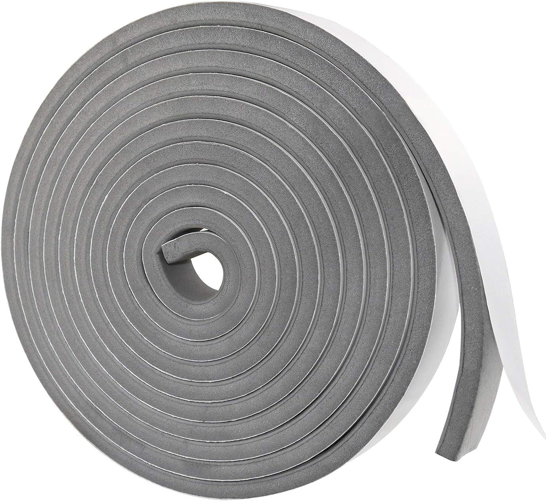 Classic Gray Weather Stripping Door Seal Foam unisex Insulation Self Tape Strip