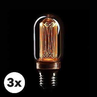 3x Bombilla Edison Crown LED base E27   Regulable, 3.5W, 1800 K, luz cálida, EL22   Iluminación de Filamento antiguo con apariencia retro vintage   Etiqueta Energética de la Unión Europea: A+
