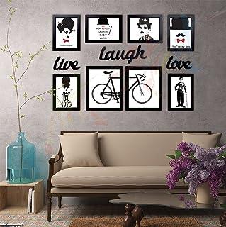 Art Street 'Live-Love-Laugh' Wall Poster (Wood, 100 cm x 65 cm x 2 cm, Black)