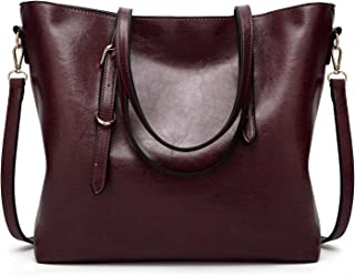 Leather New Women's Crossbody Wallet Oil Skin Tote Wallet Fashion Single Shoulder Diagonal Handbag Simple Wild Lady Wallet Waterproof (Color : Purple, Size : M)