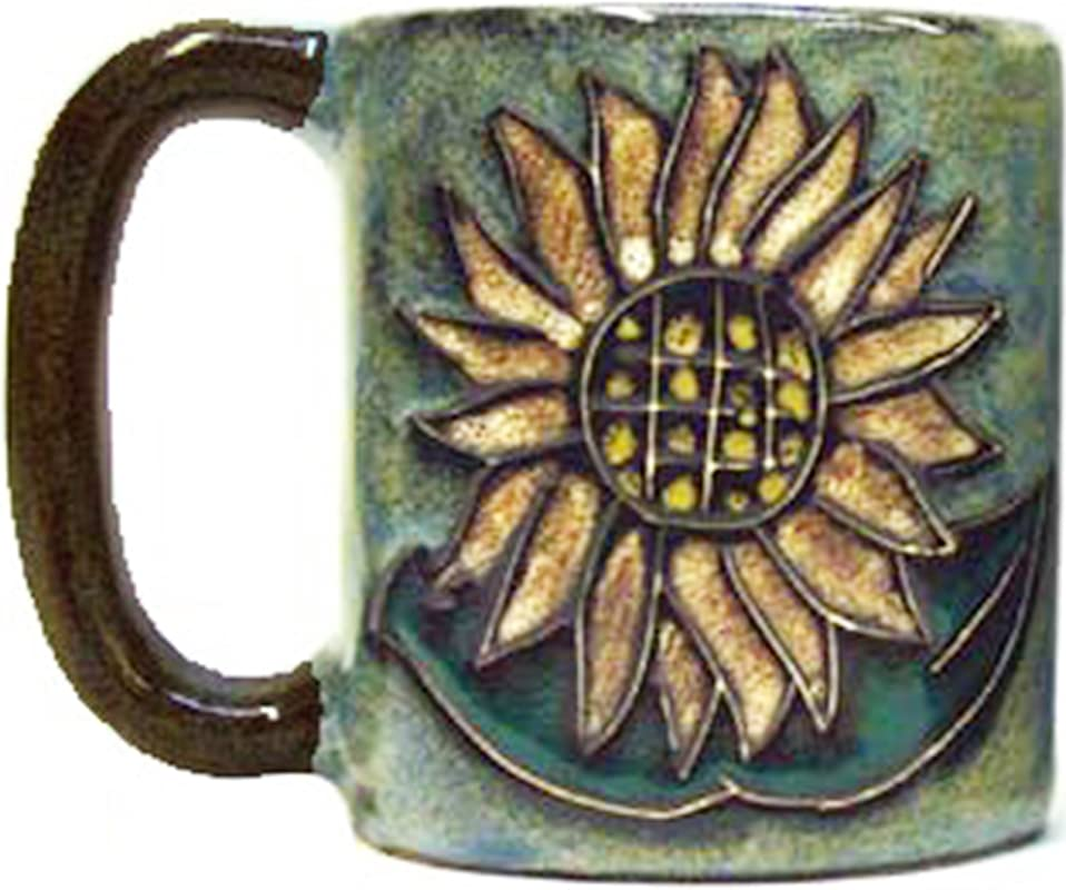One 1 MARA STONEWARE COLLECTION 16 Ounce Coffee Cup Collectible Dinner Mug Sunflower Design