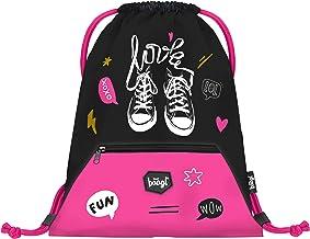 Baagl Gymtas voor meisjes - waterdichte schoenentas voor kinderen - school en kleuterschool sporttas, sporttas