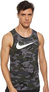 Dry Men's Dri-Fit Training Tank Top Shirt Grey Black...