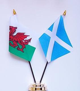 """Wales en Schotland Vriendschap Tafel Vlag Weergave 25cm (10"""")"""