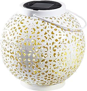 Gadgy Latarnia ogrodowa   marokańska lampa z efektem cienia   dekoracyjna lampa solarna   wodoodporna wisząca lub dekoracj...