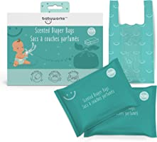Scented Diaper Disposable Bags   for Diaper Changes   Perfect for Pets and Trash   Baby Powder Scent Neutralizes Odors  ...