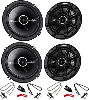 "KICKER 4 41DSC654 D-Series 6.5"" 480 Watt 2-Way 4-Ohm Car Audio Coaxial Speakers"