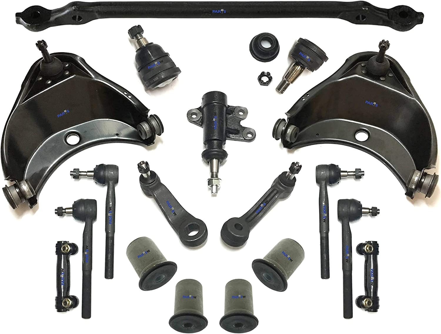 18 Pc Complete Suspension Kit Free shipping New Upper Ends Control Lo Tie Rod Online limited product Arms