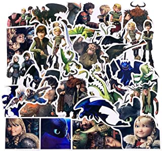42PCS/Set Stickers How to Train Your Dragon Hiccup Toothless Night Light Fury Stickers Toys for Children Adults Skateboard