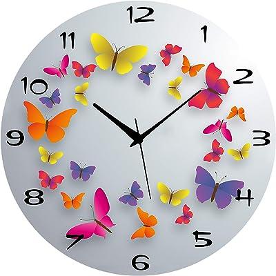 Saree House Wooden Wall Clock Latest Antique Design Ticking Movement Clock - No Frame 11 x 11 Inch