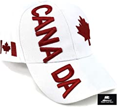 """High End Hats """"Nations of North America Hat Collection"""" 3D Embroidered Adjustable Baseball Cap Includes 1-Year Warranty"""