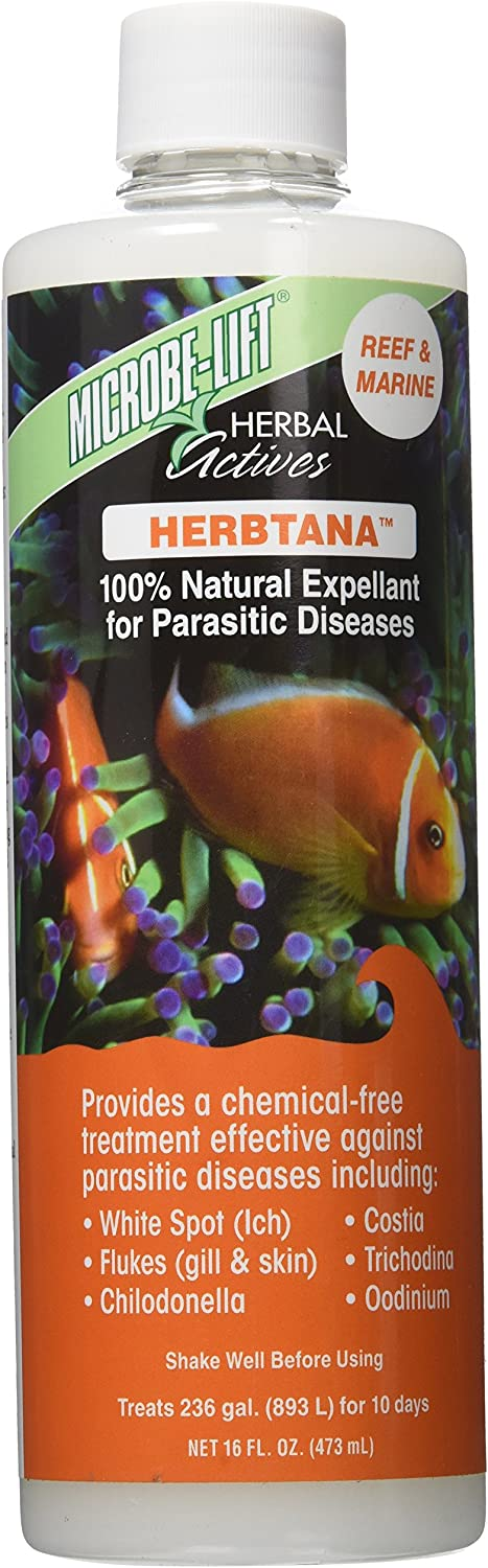 Microbe Lift Ecological Labs AEL20907 Herbtana Salt Water Conditioners for Aquarium, 16Ounce