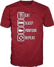 Dalesbury Eat Sleep YouTube Repeat Funny T-Shirt