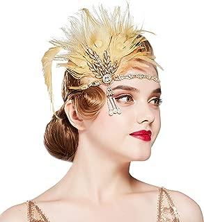 Best gold 1920s headband Reviews