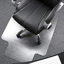 Floortex Ultimat Polycarbonate Chair Mat for Low/Medium Pile Carpets 12mm or Less, 119cm x 89cm, Rectangular with Lip, Cle...