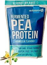 Nutrasumma 100% 2 LB Plant Based Fermented Pea Protein Powder Vanilla, North American Sourced Peas, Non-GMO, Gluten & Soy ...