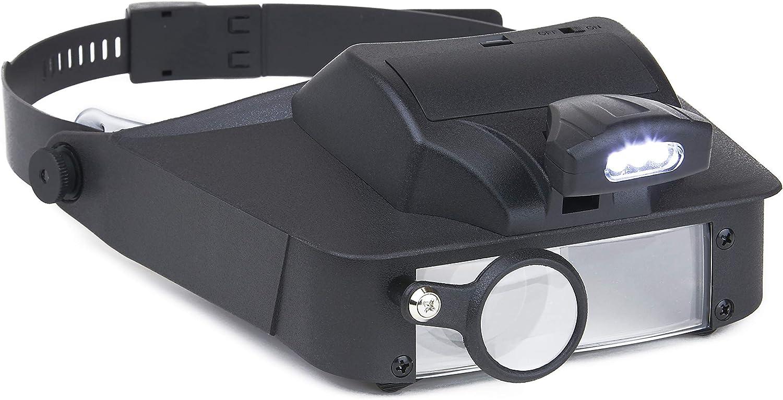 Carson LumiVisor Head Magnifier - Lighted New arrival Phoenix Mall LED Ma Visor with