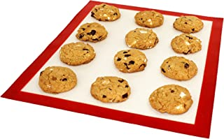 DoughEZ 11 x 16.5-Inch Silicone Fibermesh Non-Stick Baking Mat, Oven Safe Up to 480° F, Dishwasher Safe, BPA Free, FDA Approved Materials