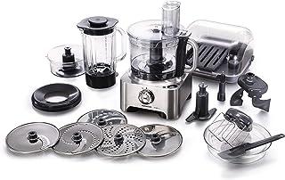 Kenwood FPM810 Robot de cocina con accesorios, 1000 W, 1.6 L, tritán, metal, 8 velocidades, color metálico