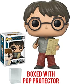Funko Pop! Movies: Harry Potter - Harry Potter with Marauders Map Vinyl Figure (Bundled with Pop Box Protector Case)