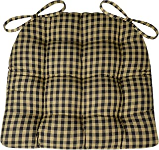 Barnett Products Dining Chair Pad with Ties - Checkers 1/4
