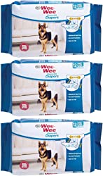 (3 pack) Wee-Wee Products Disposable Dog Diapers Large/XL