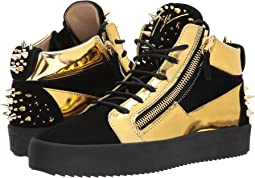 Giuseppe Zanotti - May London Mid Top Metallic Sneaker