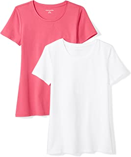 Amazon Essentials Women's 2-Pack Short-Sleeve Crewneck...