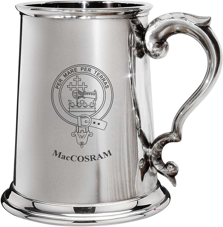 compra limitada Cresta de la familia MacCosram esta±o pulido 1 pinta pinta pinta la jarra de cerveza con el desfile de manejar  El ultimo 2018