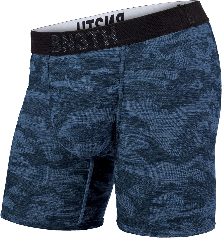 BN3TH Men's Hero Knit Athletic Boxer Briefs - Underwear with MyPakage Pouch