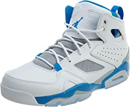 Jordan Mens Flight Club 91 White Blue Wolf Grey Orange Size 13