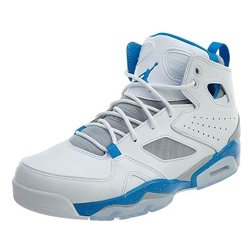 72a178d4247 Jordan Mens Flight Club 91 White Blue Wolf Grey Orange Size 9
