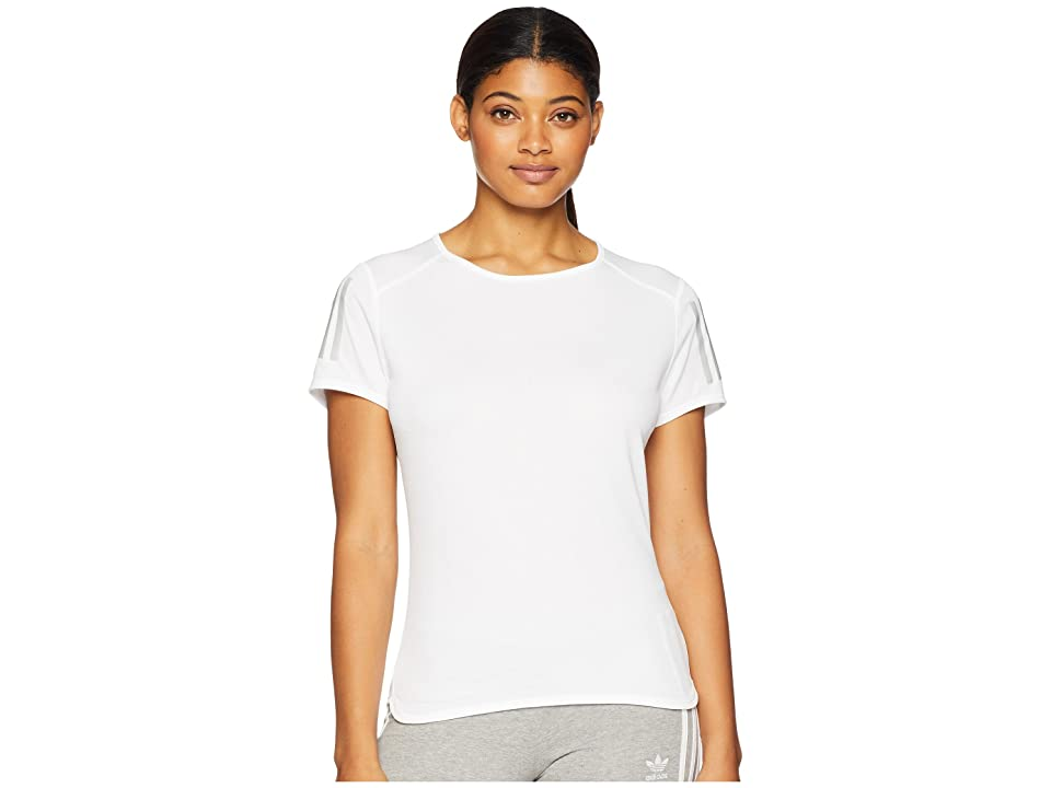 adidas Response Short Sleeve Tee (White) Women