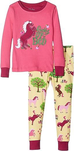 Hatley Kids - Pony Appliqué Pajama Set (Toddler/Little Kids/Big Kids)