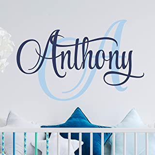 Name Wall Decal Sticker Custom Name Wall Decal Girls Room Boys Room - Personalized Name Wall Decal Nursery Decal - Baby Monogram Vinyl Wall Art