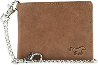 RFID Blocking Wallet Chainwallet Safekeepers Leather Thin Wallet Biker wallet