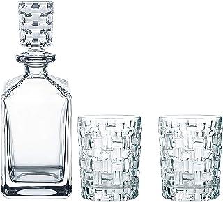 Spiegelau & Nachtmann, 3-teiliges Whisky-Set, Dekanter 2x Whisky-Becher, Bossa Nova, Kristallglas, 101095