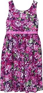 Girls' Little Sleveless Wildflower Dress