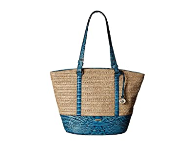 Brahmin Mantle Medium Bowie Totes (Lagoon) Tote Handbags