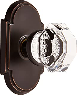 Best Arched Rosette Set with Old Town Crystal Knobs Privacy in Oil Rubbed Bronze. Doorsets. Review