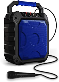 ZIZO Rokr Z1 Portable 15W Bluetooth Speaker 15W Output with Built in Rechargeable Battery USB Port AUX Mic Jack FM LED Display Blue
