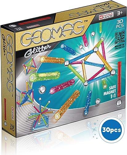 Geomag - Classic 531 Glitter, Constructions Magnétiques et Jeux Educatifs, GM201, 30 Pièces
