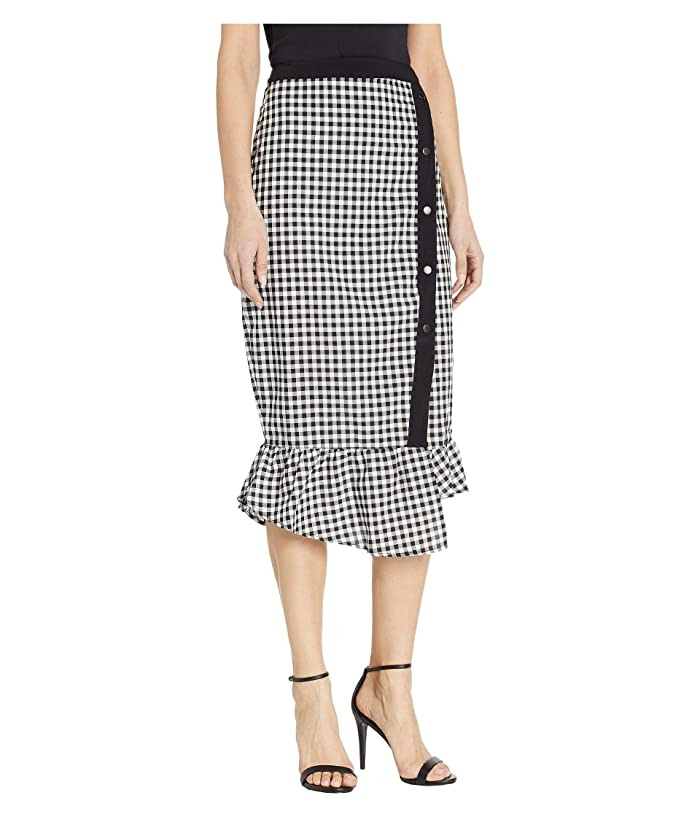 3655131b4 BCBGeneration Tiered Woven Midi Skirt at Zappos.com