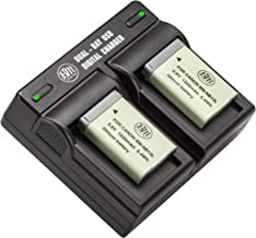 BM 2-Pack of NB-13L Batteries and Dual Battery Charger for Canon PowerShot SX740 HS, G1 X Mark III, G5 X, G5 X Mark II, G7...