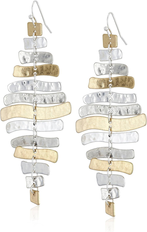 Robert Lee Morris Soho Prisma Two-Tone Sculptural Drop Earrings