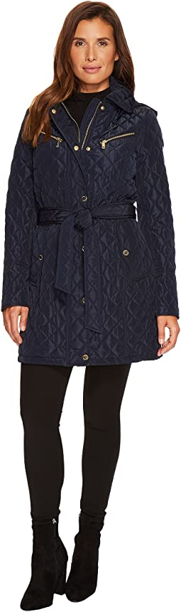 MICHAEL Michael Kors Belted Quilt with Hood M421257CZ