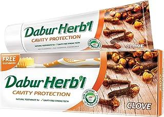 DABUR Herbal Clove Toothpaste, 150 gm + Toothbrush Free