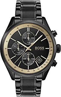 Hugo Boss Men's Black Dial Stainless Steel Band Watch - 1513578
