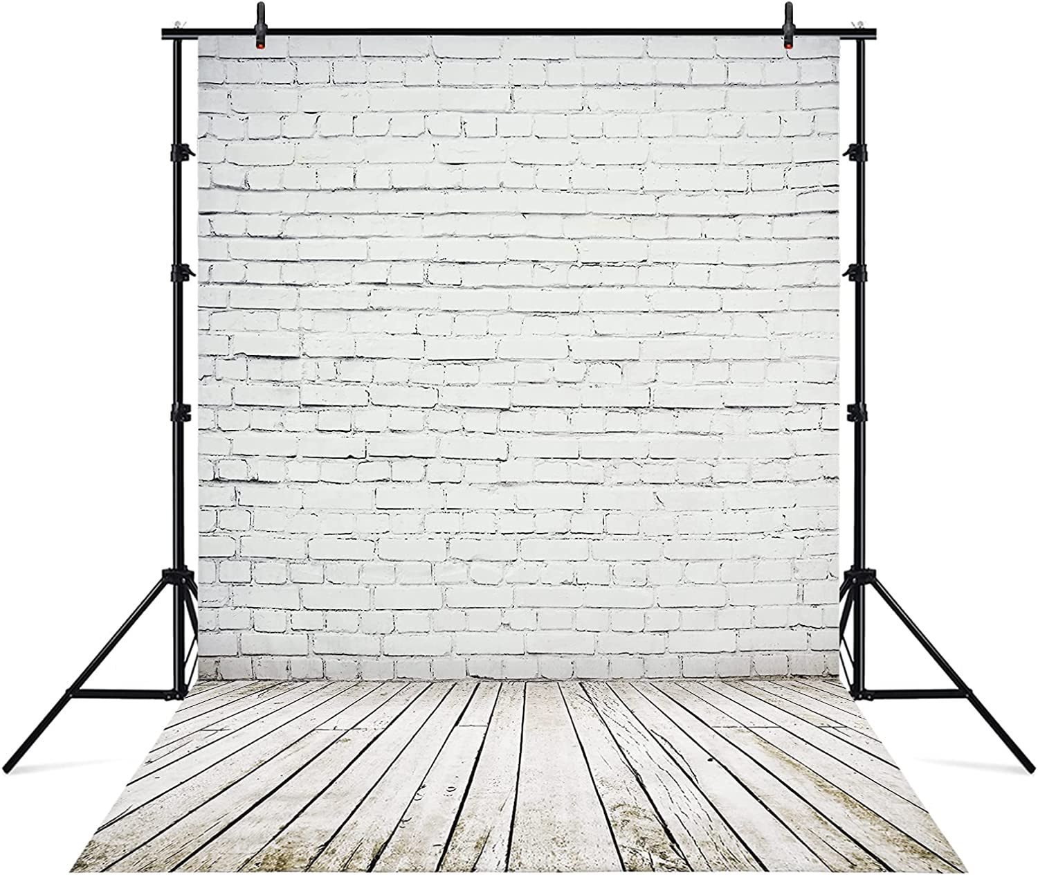 Beauty products Wenmer 5 x 3ft White Brick Wall with Fabric Floor Grey Ba Wooden 2021 spring and summer new