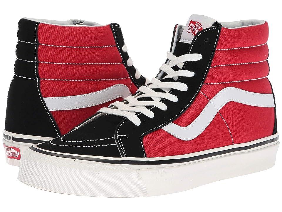 Vans UA Sk8-Hi 38 DX ((Anaheim Factory) OG Black/OG Red) Athletic Shoes